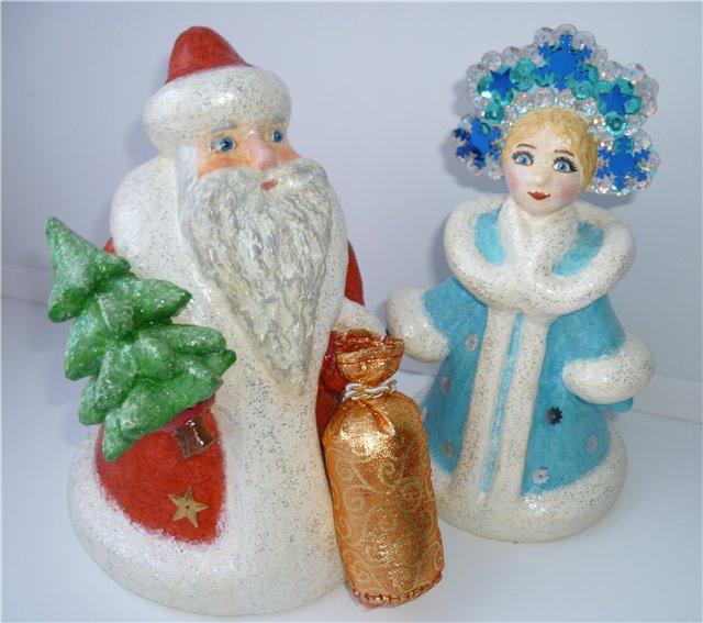 Поздравлением, зимние поделки картинки с дедом морозом и снегурочкой к новому году