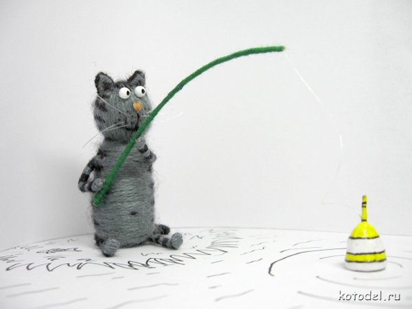Котик из пробки своими руками 84