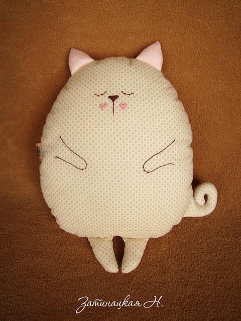 Подушки кошка своими руками